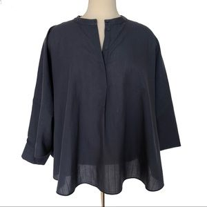 COS Oversized Circle Popover Top Batwing Sleeves